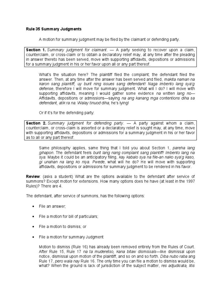 Jamero_July 16_16-16.docx  Summary Judgment  Pleading