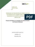 PROYECTO DE MEJORA - CONVALIDACION PRÁCTICA PROFESIONAL - INSTITUTO PROFESIONAL IACC 2020.