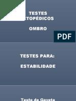 testes ortopedicos - Ombro