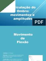 Goniometria - Ombro - Movimentos e Amplitudes