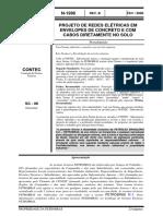 N-1996 - PROJETO DE REDES ELÉTRICAS EM ENVELOPES DE CONCRETO E COM CABOS DIRETAMENTE NO SOLO