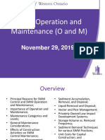 November 29 2019 Stormwater Operation and Maintenance