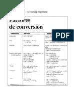 Factores de Conversion