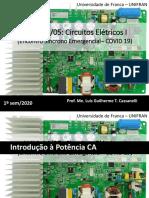 Encontro Síncrono - 14-05 - Circuitos Elétricos