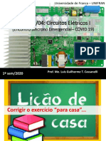 Encontro Síncrono - 23-04 - Circuitos Elétricos