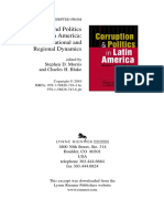 Morris & Blake - Introducción. Corruption & politics in Latin America- national and regional dynamics