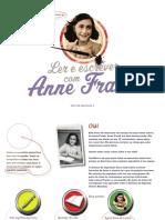 livro de exercícios sobre anne frank