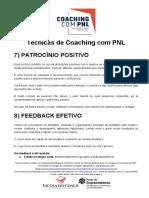 15 - Técnicas de Coaching com PNL_ Patrocínio Positivo - Feedback Efetivo - Ensaio Mental+Ponte ao Futuro