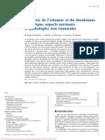 imagerie de l'estomac et du duodenum technique aspects normaux et pathologies non tumorales