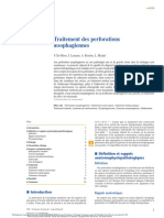 Traitement des perforations oesophagiennes