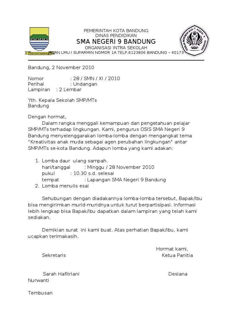 Surat Dinas Pdf