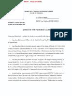 Probable cause affidavit in David Fouts case