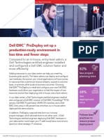 Dell EMC™ ProDeploy set up a production-ready environment in less time and fewer steps