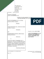 Aleut Enterprise motion for contempt order