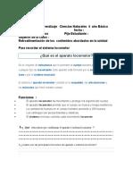 Guía de Aprendizaje   Ciencias Naturales  4  año Básico   SEPTIEMBRE