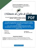 Le crédit documentaire et la remise documentaire comme moyens de règlement des opérations du commerce extérieur en Algérie.
