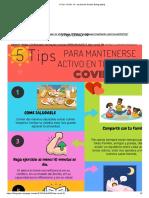 5 Tips COVID- 19 - by Daniela Giraldo [Infographic]