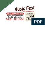 Fall Music Fest