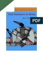 Oral Literature- Ruth Finnegan