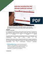 Extenderán instalación del expediente judicial virtual