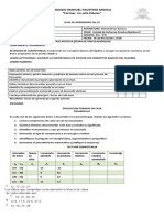 Guía de Aprendizaje no 34 .Matematicas 8° UNIDAD DE REFUERZO P IV Alfredo Aaron 2020