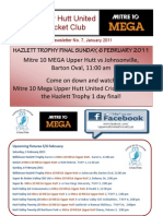Mitre 10 Mega Upper Hutt United Cricket Club
