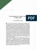 El Wakeel & Riley 1957 Estimation of Organic Carbon