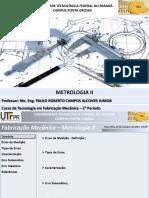 Aula 08 - Metrologia II
