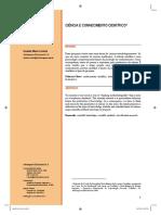 Artigo 1 - Ciencia e conhecimento cientifico