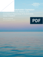 WEF IBC Measuring Stakeholder Capitalism Report 2020