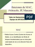 DIRECCION IP Y MAC