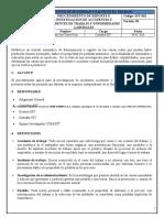 SST-062 Procedimiento de Reporte e Investigación de Accidentes e Incidentes y Enfermedades Labores