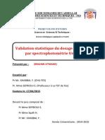 Validation statistique du dosa - Brahmi Otmane_2754