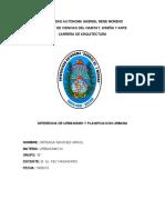 DIFERENCIA DE URBANISMO Y PLANIFICACION URBANA