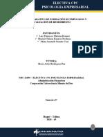 CUADRO COMPARATIVO DE FORMACIÓN DE EMPLEADOS Y EVALUACIÓN DE RENDIMIENTO