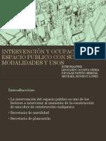 INTERVENCIÓN Y OCUPACIÓN DEL