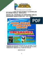 PROYECTO EDUCACION SANITARIA - 2015