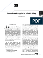thermodynamics palm oil mill