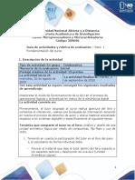 Guia de actividades y Rúbrica de evaluación - Paso 1 - Fundamentación del curso