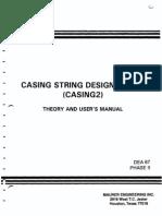 Casing String Design Model
