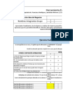 Herramienta de Evaluación excel plan de negocios actividad 2