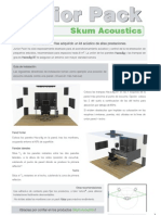 Junior Pack - Kit tratamiento acústico - Skum Acoustics