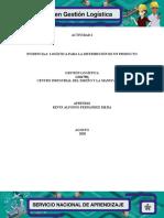 """Evidencia 6 Presentación """"Logística para la distribución de un producto"""