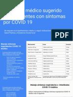 Protocolo médico sugerido para pacientes con síntomas por COVID 19
