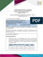 Guia de Actividades y rúbrica de evaluación - Fase 1 - Contextualización.