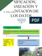 Clasificación, organización y presentación de los datos