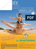 Grand Métairie Tarifs 2011