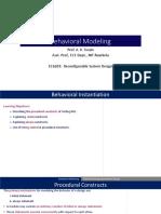 10_Behavioral Modeling