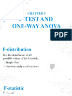 CH9. F-TEST AND ONE WAY ANOVA