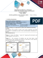 Activities guide and evaluation rubric - Unit 1 - Task 2 - Writing Production.pdf